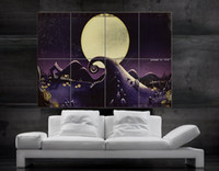 Wholesale The Nightmare Before Christmas Jack Skellington Tim Burton Horror Movie parts giant huge Poster print wall art NO594