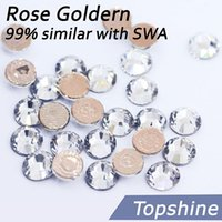 austria professional - Rose Golden Glue as S W A Hotfix Rhinestones Big Small All Sizes Facets Austria Crystal Clear For professional Buyers