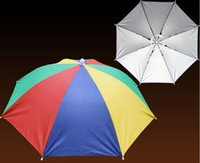 beach umbrella shade - New Arrive Camouflage Foldable Headwear Sun Umbrella Fishing Hiking Beach Camping Headwear Cap Head Hats Outdoor Sport Umbrella Hat Cap