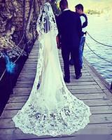 beautiful bridal veils - Lace M Long Luxurious Beautiful Bridal Veils Vintage Wedding Veils Elegant Bridal Accessories Stunning Wedding Accessories