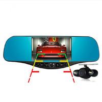 5.0Inch Retrovisor Espejo Car DVR Cámara Top Grado Full HD 1080p Car Dvrs Estacionamiento Dual Lens Cámara Dvr Video Recorder Night Vision