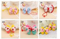 baby fruit holder - Baby Elastic Hair Bands Handmade Cute Fruit Dots Bowknot Ponytail Holder Girls Hairband Rope Headbands Kids Girls Hair Accessories L26