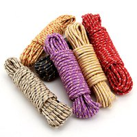 Wholesale 10m Nylon Durable Clothesline Household Cleaning Tools Sun Clothes Washing Line Laundry Multi Function Nylon Rope dandys