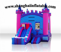 backyard designs - New Design Inflatable Bounce House with lanes Slides for Sale
