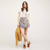 american strips - Women Summer Skirt Crew Neck Short Sleeve Shirt Strip Flower Color Teen Summer Dresses Comfortable Suit for All Sports