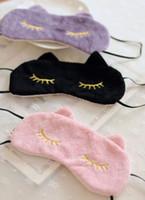 bandages for cats - Cute Cat Sleeping Eye Mask Nap Cartoon Eye Shade Sleep Mask Black Mask Bandage on Eyes for Sleeping