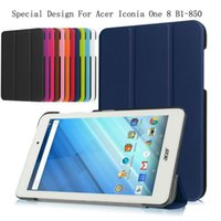 acer shield - 10 Colors Business Pu Leather Stand Case Cover Shield Bag For Acer Iconia One B1 Tablet With Hard Shell