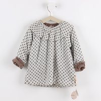 Wholesale Girls blouse baby girl blouse Autumn Winter new style girls cotton quilted dot blouse children clothing hot sale kids wear for M T