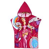 Wholesale Bath Towel_9 Styles Kids Cartoon Printed Hooded Bathrode