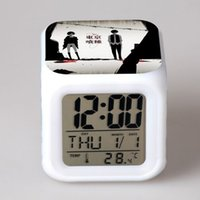 Wholesale Colorful mood fashion night light alarm clock