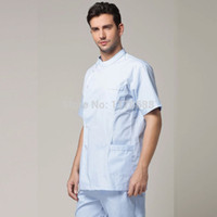 Wholesale Male Doctor Clothing Dentist Clothes Lab Coat Suit Medical Clothing Coat Lab Medical Clothes Suit Including The Pants