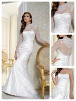 benjamin roberts wedding dresses - Long Sleeve Illusion Sweetheart Neckline Lace Appliques Hand Beaded Lace Custom Made CM19 Benjamin Roberts Bridal Dresses Wedding