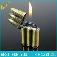 arrow bullet - Bullet shape cigarette lighters Butane Windproof gas lighter Green Arrow Flame LIGHTER Gadget for smoke cigarette Cigar
