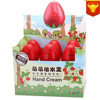 Wholesale New Strawberry Mini Whitening Cream For Hands Moisturizing Antifreeze Cute Skin Defender Hand Cream A0069