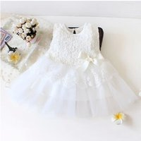 baptism baby clothes - Hot Summer cotton Newborn baby dress girl clothing princess lace sleeveless baby chiristening gowns baptism tuxdeo for M party dresses