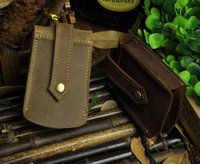 Wholesale Vintage Casual Genuine Leather Men Men s Car Key Wallet Wallets Holder Case Waist Bag Housekeeper Organizer Holders For Man