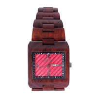 bewell watch - Eco Friendly Red Sandal Wood Watches Bewell Brand Wooden Watch Health Quartz Wristwatch Clock For Mens Women Lover Best Gift