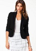 applique work suits - AQ219 Women Slim Blazer Coat New Fashion Casual Jacket Long Sleeve Two Buttons Suit Ladies Blazers Work Wear
