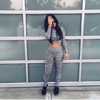 sexy tracksuit - New Women Casual Sportswear Fashion Sexy Short Paragraph Sweater pants Ladies Yoga Clothes Outdoor Sports Jogging Suit Tracksuits