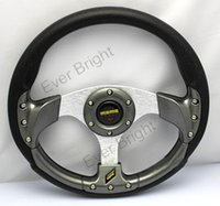 bentley racing - High quality Inches Car Steering Wheel Automobile Race Modified MOMO PU Steering Wheel Pads Cushion cushion massage