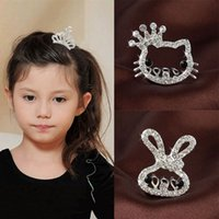 Wholesale Popular children cute Baby Headband girl hair pins hair tiara comb large hair crowns alloy Rhinestone designs jewelry