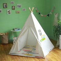 Wholesale Kid s Authentic Giant Canvas India Teepee Tripod Play Tent Kids Hut Children House