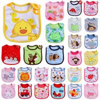 Wholesale 3 layer Cotton Baby Waterproof Bib Feeding Cartoon Infant Bibs Burp Cloths styles by DHL G179