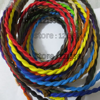 Wholesale m Vintage Style Edison Light Lamp Cord Grip Twisted Fabric Lighting Flex Electric Cable