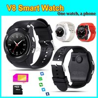apple iphone facebook - Support SIM TF Card V8 Smart Watch Whatspp Facebook SMS Bluetooth MTK6261D Smartwatch for Apple iPhone Android Phone Wrist Watches Colorful