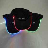 baseball cap with led light - New Top Fantastic Glow LED Light up BaseBall Hat Unisex Baseball Cap Hat with Headlamp Mutil color LED Night party flashing Caps