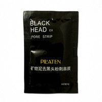 Wholesale 100pcs Black mask PILATEN face mask Tearing style Deep Cleansing New oil skin Acne remover strawberry nose black mud masks g