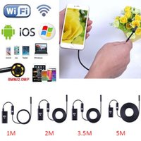 Wholesale 2 In Wifi Endoscope Waterproof Inspection Camera M LED For iPhone Android IOS P Iphone Camera Endoscope