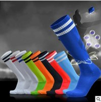 Wholesale Men s Football Soccer Socks Of High Quality Thicken Combed Cotton Towel Above Knee Tube Durable Stockings Sport Chaussette black