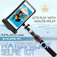 bags shutters - Handheld Extentable Waterproof Selfie Stick with Remote Control Self Timer Shutter for Smartphone with Waterproof Sealed Bag