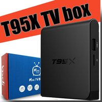 Wholesale T95X Android tv box Amlogic S905X Quad Core Android Kodi Fully Loaded GB DDR3 RAM GB emmc Flash Miracast WiFi DLNA