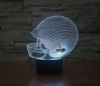 Wholesale Football cap Acrylic Night Light D LED Touch Switch Colorful Gradient Illusion Table lamp Home Decor USB Lamp