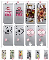 apples letter iphone - For Iphone S Plus SE S Cartoon Soft TPU Case Couples Flower Poker Love Letter Together FACE Lip PEAL FRIENDS skin Cover Luxury