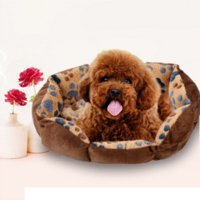 Wholesale Lovely Footprint Pet Dog Cat Bed Warm Winter Fleece Dog Cat House Nest Cozy Soft Pet Cusion Mat Pad Pet Products cm