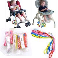 Wholesale 12pc Baby Bottle Strap Holder cm Stroller Toys Rope Teethers Pacifiers Toys Cups Anti lost Strap Colorful Accessories
