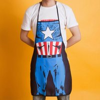 Wholesale Hot Sale Super Hero Superman The hulk Captain America D Printed Apron Sexy Kitchen Cooking Home BBQ Apron Party