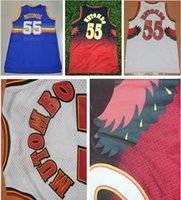 Wholesale Top Quality Dikembe Mutombo Jerseys Stitched Mesh Jerseys Cheap