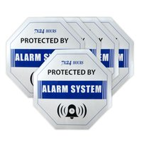 alarm system signs - 15pcs Security Surveillance GSM Alarm System Anti theft Burglar Waterproof Blue DECALS Warning Sign Sticker