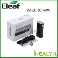 battery options - Authentic Eleaf iStick TC W Mod mah Built in Battery w Temperature Control Mod Kit with eGo Connector USB cable Color Options