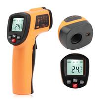Wholesale GM550E high quality Non contact Digital Infrared Thermometer IR Laser Temperature Gun Tester Range Centigrade