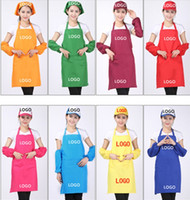 Wholesale 11 Colors Adult Aprons Pocket Craft Cooking Baking Art Painting Adult Kitchen Dining Bib Aprons Aprons A