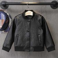 baby boy leather jacket - Boys Jacket Fashion Baby Coats Children Outwear Korean Kids Leather Jackets Autumn Coat Boy Child Clothes Kids Clothing Lovekiss C28209