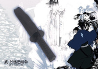 mini folding umbrella - Mini Samurai Sword Black Ninja Folding Umbrella Novelty Umbrella