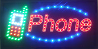 Wholesale 20pcs Led phone shop open sign direct selling custom graphics X19 inch indoor Neon lighted Sign