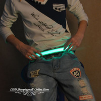 active safety - 10PCS LED Glowing Belt Light Waist band for Outdoor Sports Cycling Runner Party Club Safety Warning