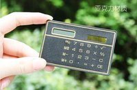 Wholesale The new card type counter portable ultra thin calculator solar computers office stationery